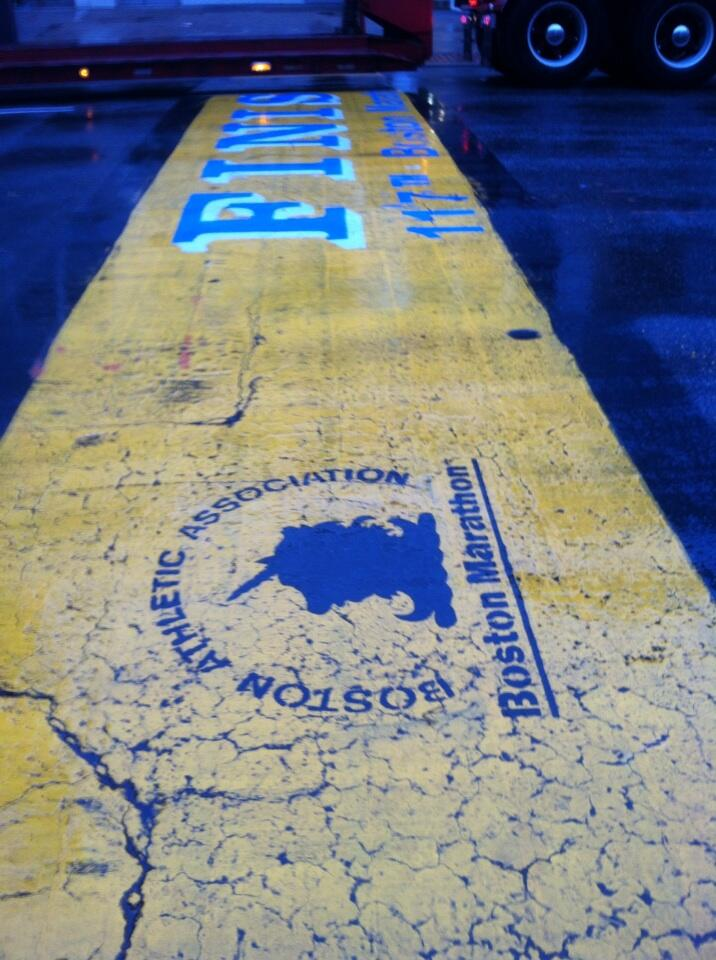 Boston marathon finish line at NCTE convention